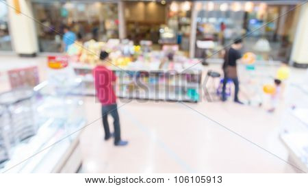People Walking Shopping In Department Store