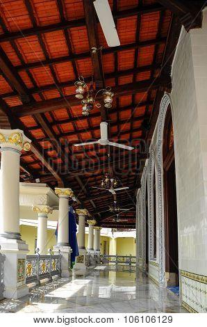 Corridor of Kampung Kling Mosque at Malacca, Malaysia