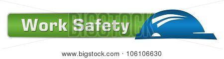 Work Safety Green Blue Horizontal