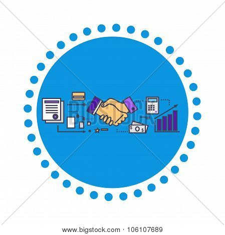 Business Partners Icon Flat Design