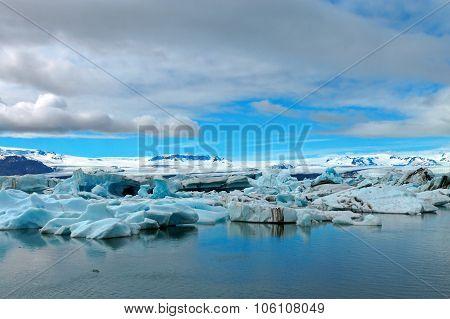 Icebergs at the glacier lagoon