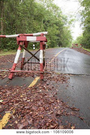 Road Block Check Point Jungle Road