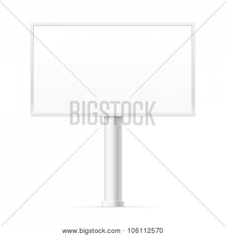 Blank urban advertising board template. Past your content into it