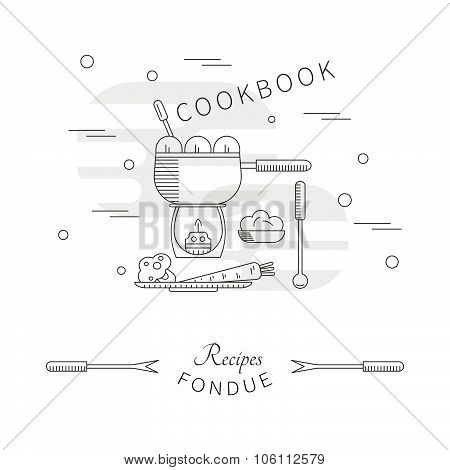 Template menu cookbook recipes fondue
