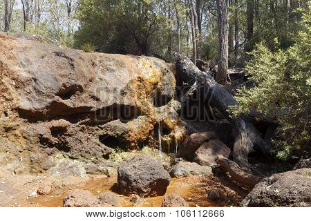 Ironstone Gully Falls near Capel Western Australia