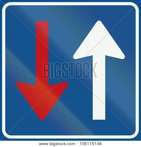 Netherlands Road Sign F6 - Priority Over Oncoming Vehicles