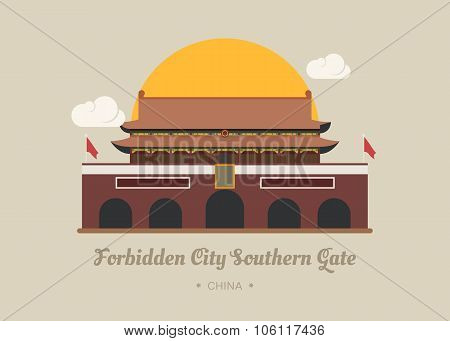 Forbidden City Southern Gate , China