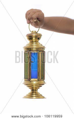 Child Hand With Ramadan Lantern
