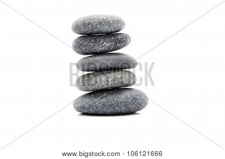 Zen And Spa Stone Over White Background