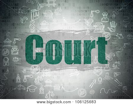Law concept: Court on Digital Paper background