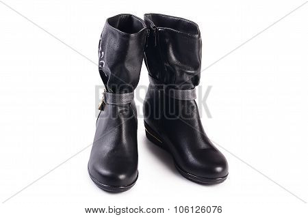 Women's Autumn Boots Isolated On White