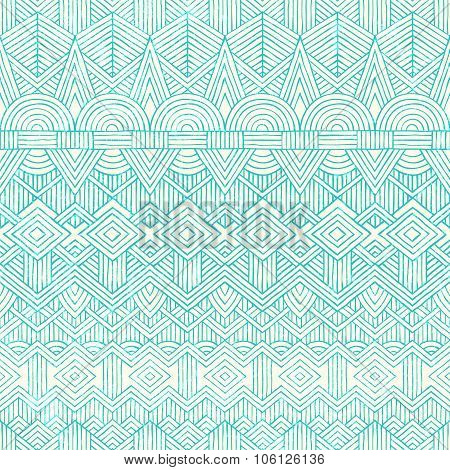 Hand drawn seamless pattern. Abstract geometric background.
