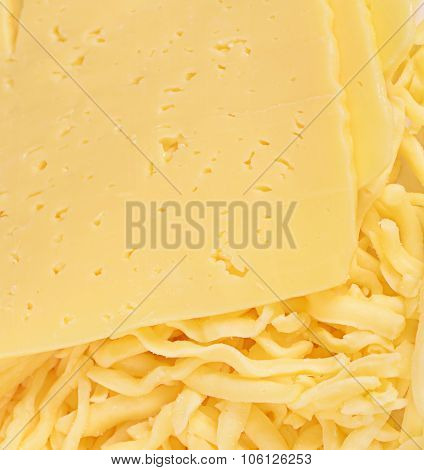 The Cheese Isolated On White Background