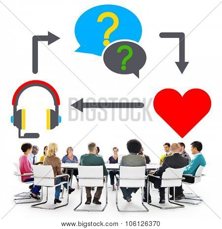 Customer Service Consulting Communication Helpful Concept