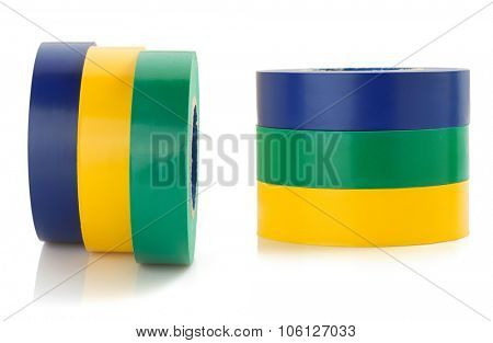 adhesive tape tool isolated on white background