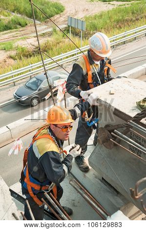 Builder Worker in safety protective equipment