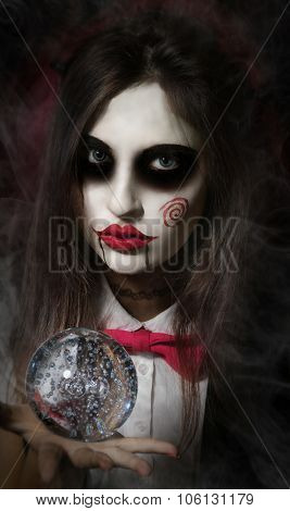 Makeup In The Style Of Billy the Puppet