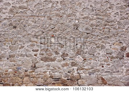 Large Old Granite Stonewall Texture