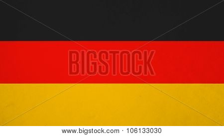 Flag of Germany, German flag painted on paper texture