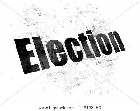 Political concept: Election on Digital background