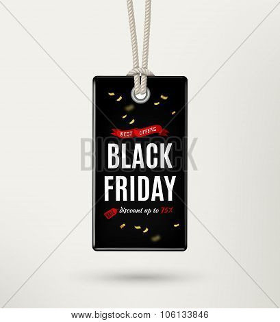 Black Friday Sale Tag, Label. Black Friday Sale Poster. Vector Illustration
