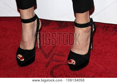 LOS ANGELES - OCT 24:  Janet Jones (shoe detail) at the