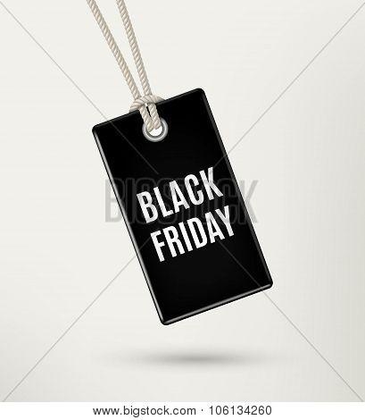 Black Friday Sale Tag, Label, Poster. Vector Illustration