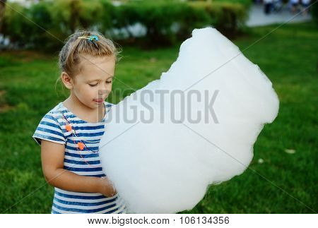 Little Girl With Cotton Candy