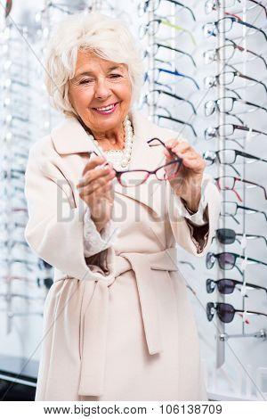 Senior Woman In Optical Shop