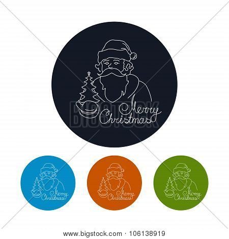 Icon Of A Santa Claus