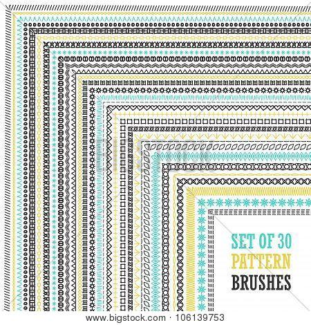 Hand Drawn Pattern Brushes Set