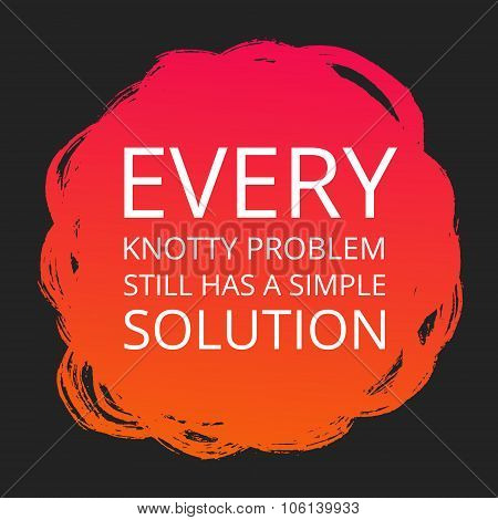 Motivational Poster about Problems