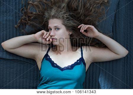 Woman Awaking After Night