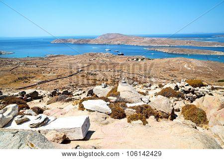 Temple  In Delos Greece The