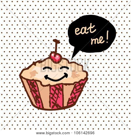 sweet cute cupcake