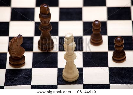 White's King Is In Danger On The Chessboard