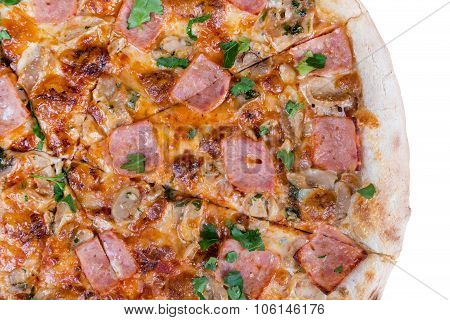 Fresh Hot Fast Food Slices Of Pizza