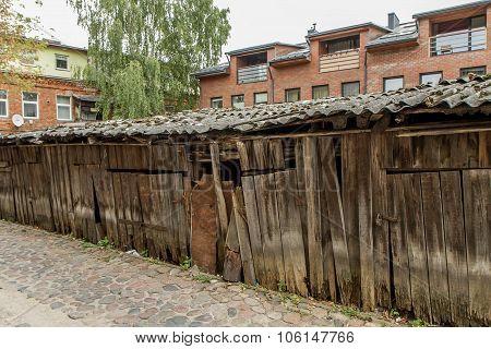 Ramshackle Wooden Warehouses