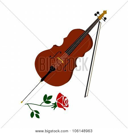 The Cello And Rose