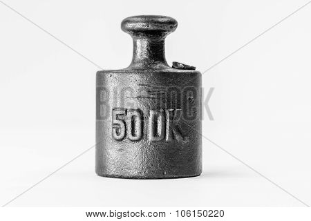 Vintage Half Kilogram Iron Calibration Weight
