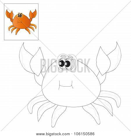 Picture For Coloring - Crab.