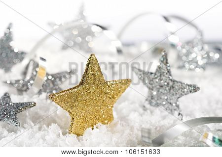 Christmas Background With Christmas Stars