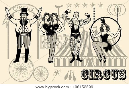 Illustration of circus star.
