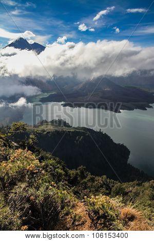 Active Jari Baru Volcano-mt.rinjani,lombok,asia