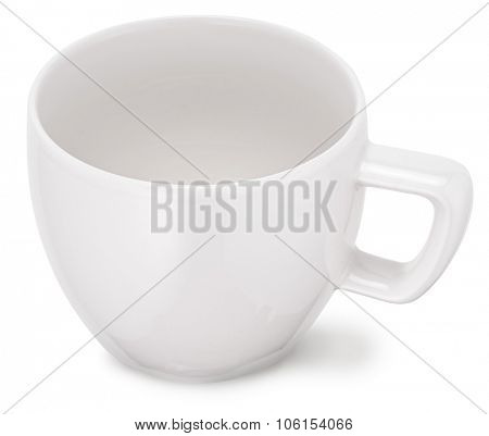 Empty white cup. File contains clipping paths.