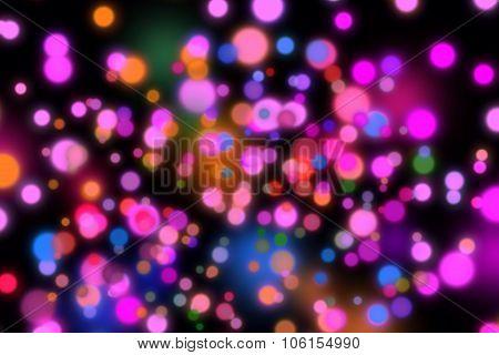 Pink Illuminations Bokeh Background
