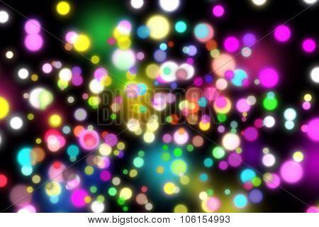 Rainbow illuminations Bokeh Background