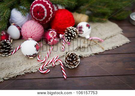 Christmas Retro Composition