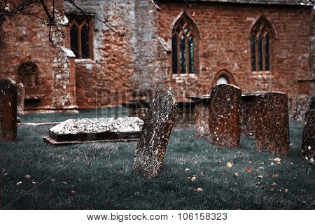 Puttenham St John The Baptist Church Helloween Style In England Uk