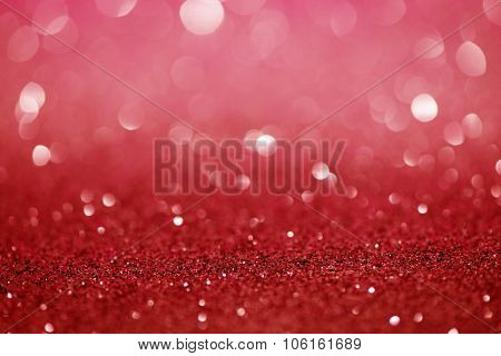 Red  Festive Christmas Abstract Bokeh Background, Shining Lights, Holiday Sparkling Atmosphere, Cele